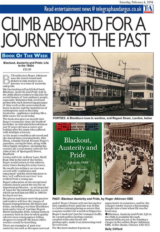 Bradford Telegraph & Argus ~ 6 February 2016
